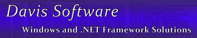 Davis Software - Windows and .NET Framework Solutions